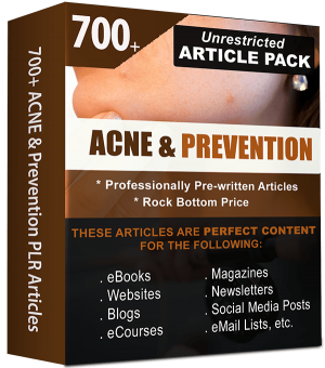 Acne & Prevention Pre-written PLR Articles for Websites & Blogs