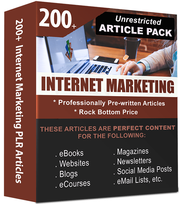 Internet Marketing Pre-written PLR Articles