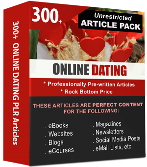 Online Dating Pre-written PLR Articles