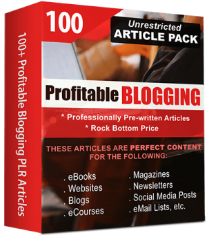 Profitable Blogging Pre-Written Articles
