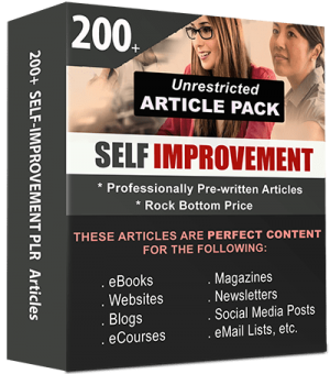 Self Improvement Pre-written PLR Articles