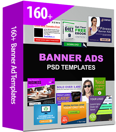 160-Banner-Ad-Templates With PSD Action Source File
