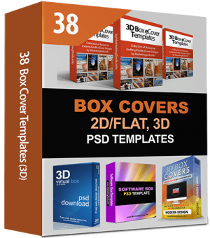 38 Box Cover Templates, Flat & 3D